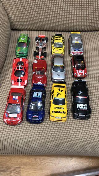 Lote de 12 coches de Scalextric