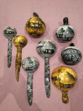 arte africano calabazas pintadas a mano
