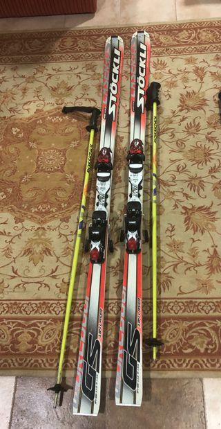 Esquís Stockly mas bastones
