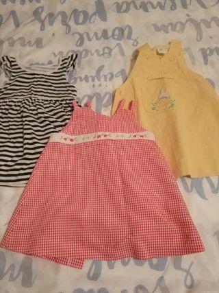 Lote de 3 vestidos 6 meses