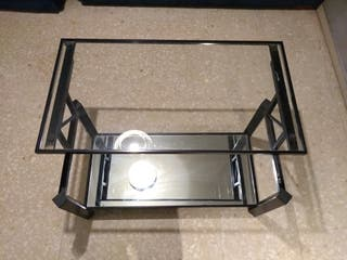 Mesa de centro elevable de cristal