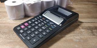 Calculadora Impresora Casio HR-8RCE + 4 Rollos