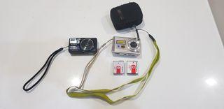 2 cámaras de fotos.