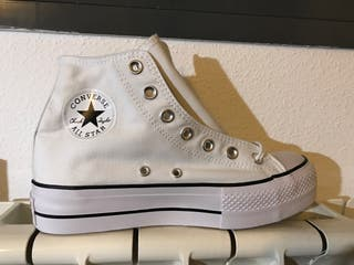 Converse all stars plataforma bota blancas talla38