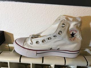 Converse all stars bota blanca plataforma talla37
