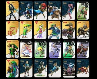 Lote 24 Tarjetas Amiibo The Legend of Zelda