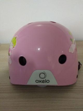 Casco bicicleta niña rosa