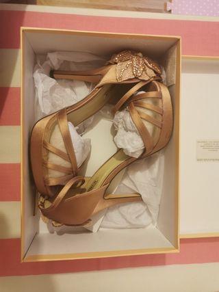 zapatos boda menbur 38 nude