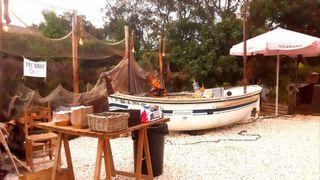 Barca barbacoa/Espetero para eventos