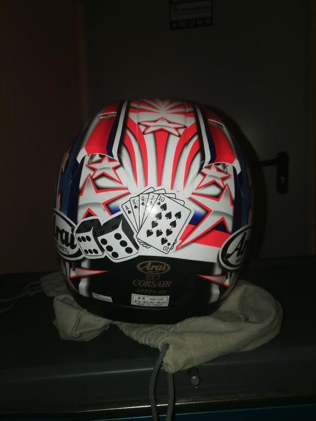 casco arai rx7 Collin edward white