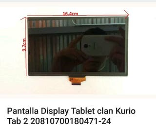 PANTALLA DISPLAY TABLET CLAN KURIO TAB 2