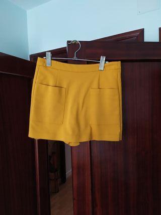 falda pantalon mostaza