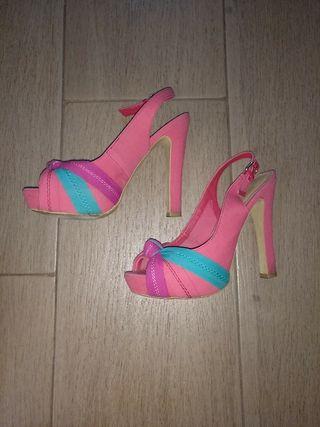 zapato tacón colorines