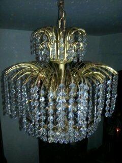 lámparas vintage de cristales de Swarosvski