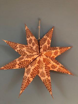 Estrella de navidad plegable