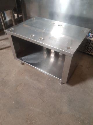 mesa soporte acero inox hostelería