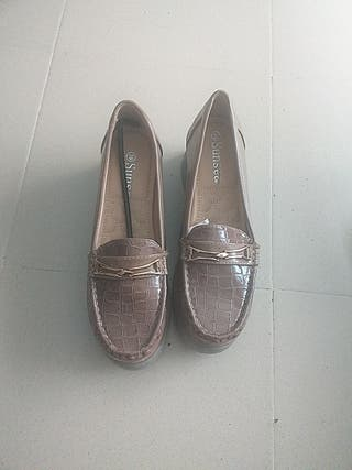 zapato suela de piel
