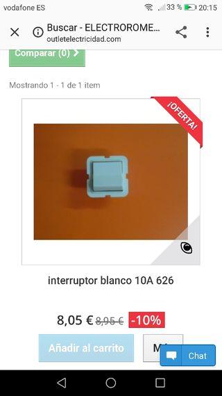 Interruptor blanco nuevo