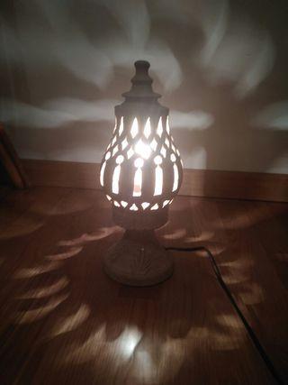 lampara cerámica 2 piezas
