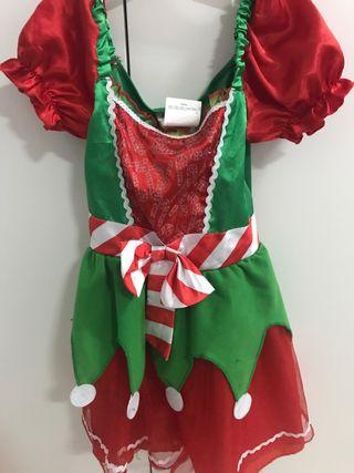 Vestido Elfa navidad
