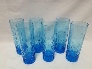 6 vasos de tubo azules