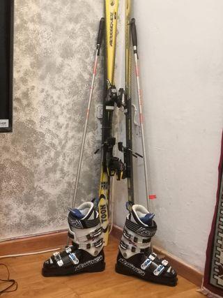 Esquís rossignol botas y palos