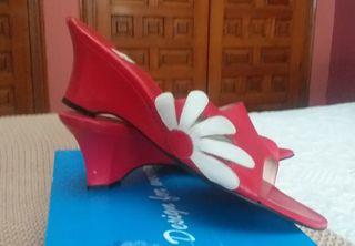 Zapatos tacón piel