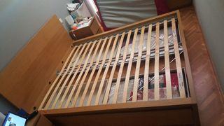 Estructura de cama 1,60 + Somier de lamas