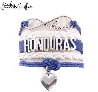 Pulsera Honduras Love Corazón Hombre y Mujer