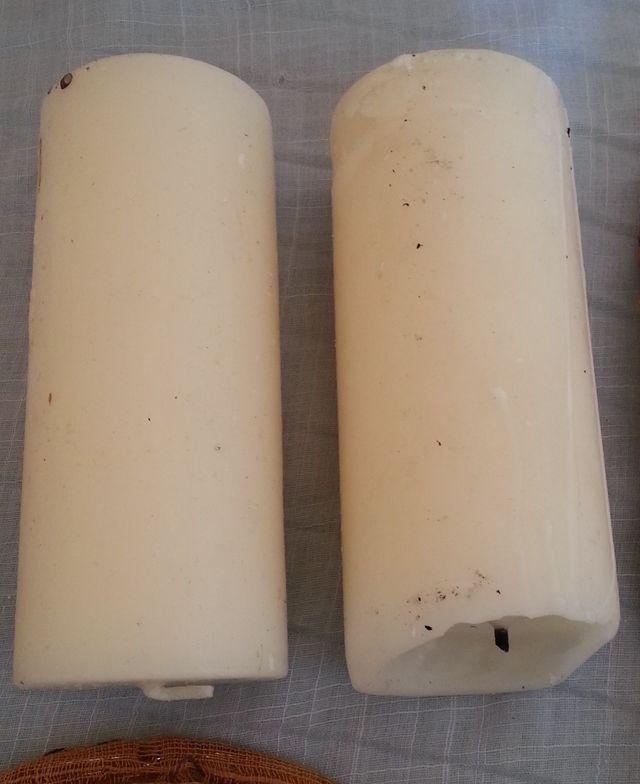 Cirios, Velones de cera. 2 unidades.