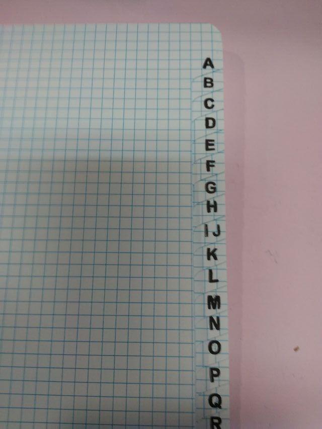 cuaderno con indice 192 paginas