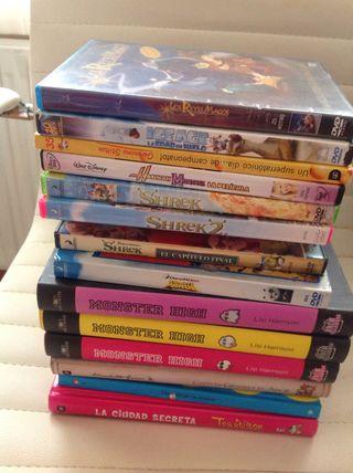 LOTE LIBROS + DVDs + REGALO RELOJ