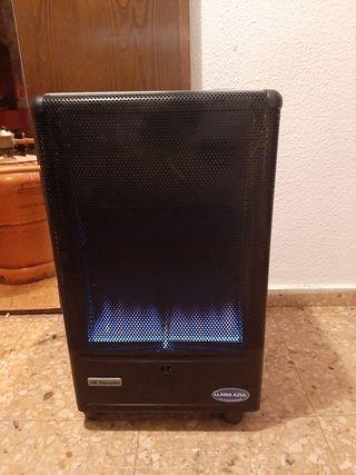 estufa de llama azul