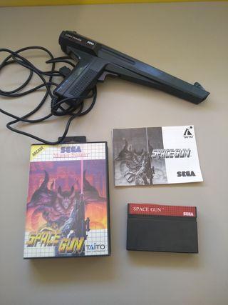 space gun como nuevo más pistola