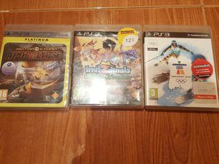 Tres juegos ps3