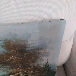 Cuadro pintado al oleo vintage años 60/70