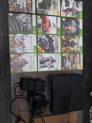 X Box 360 con 12 juegos