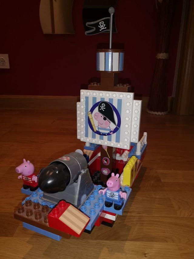 barco Pepa pig de lego