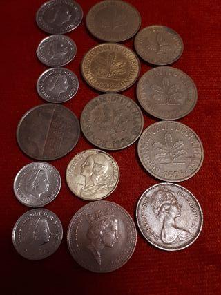 Varias monedas Europeas