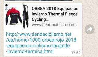conjunto ciclismo XXL