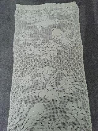 cortina ganchillo 130 x 62