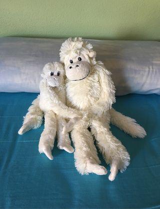 2 Monos Blancos de Peluche