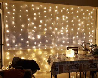Cortina luces led 3x3m, Navidades, Fiestas, Boda