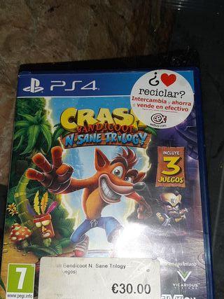 PS4 crash bandicoot 3 juegos