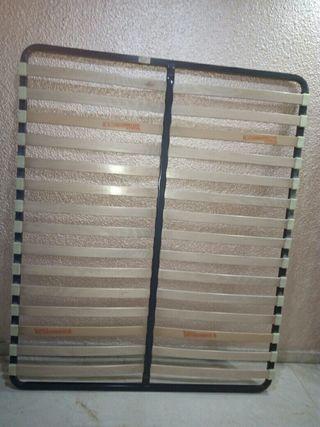 Somier de lamas de madera para colchón de 150 cm