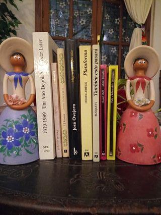 Sujeta libros de cerámica
