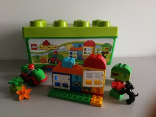 LEGO duplo, caja verde construcción