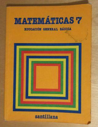 Libro Matemáticas EGB Santillana años 80