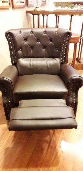 sillón piel masaje