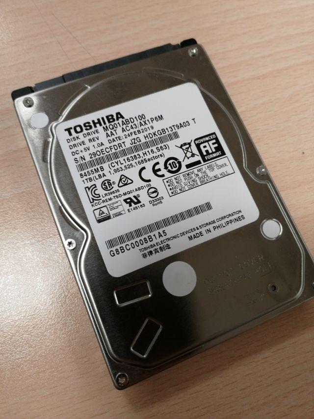 """Disco duro Toshiba 2,5"""" 1Tb"""
